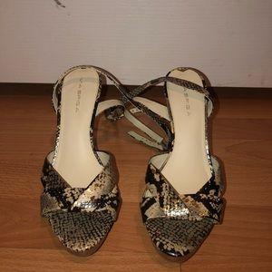 Via Spiga Open Toe Strap Heels